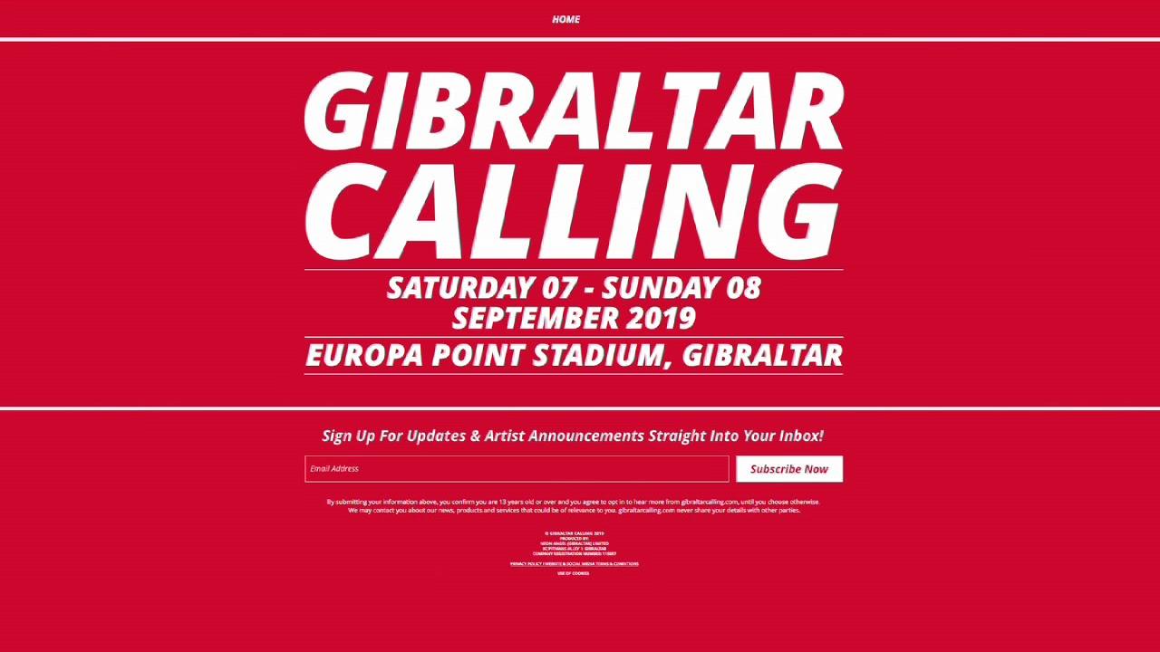 Gibraltar Calling Festival 2019